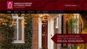 A screenshot of the American Friends of Tyndale House website