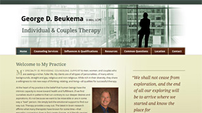 A screenshot of the George Beukema Therapy website