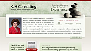 A screenshot of the new KJH Consulting website
