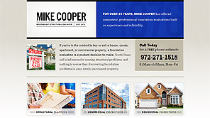 A screenshot of the Mike Cooper website design