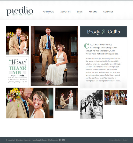 A screenshot of the new Pictilio website