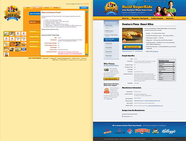 A screenshot of the SuperKids website