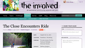 A screenshot of The Involved website