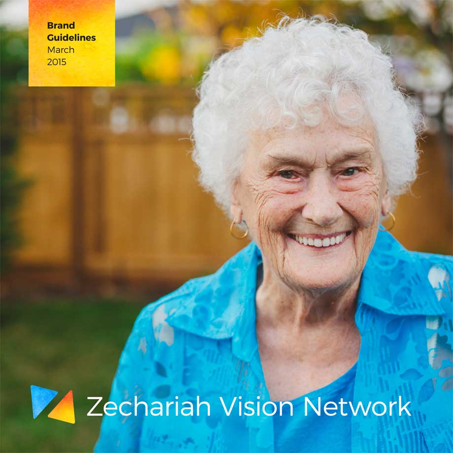 A screenshot of the Zechariah Vision Network brand guidelines