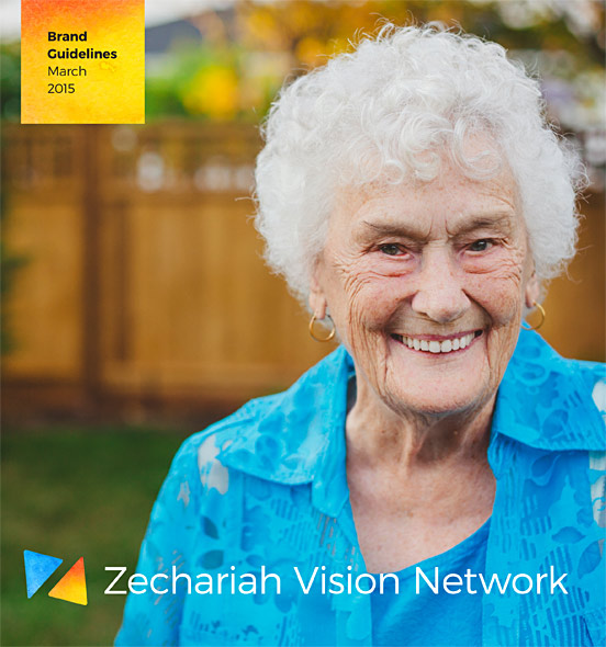 The cover for the Zechariah Vision Network brand guidelines